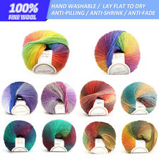 1-10x 100% Super Soft Cotton Knitting Wool Yarn Bulk Ball 50g 10Colour Available