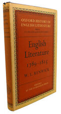W. L. Renwick ENGLISH LITERATURE, 1789 - 1815  1st Edition 1st Printing
