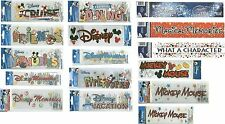 DISNEY Mickey Mouse Title Stickers U Pick Vacation Cruise Friends Memories Dine