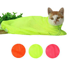 Pet Cat Grooming Nail Clipping Bathing Restraint Bag No Scratch Fitted Mesh Bath