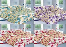 New Martha Design Poly Cotton Duvet/Quilt Covers With Pillow Cases and Bed Sheet