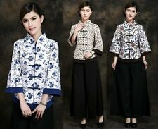 Chinese Traditionary Women's Girl Casual Shirt Blouse Tops M L XL XXL 3XL 4XL 5X