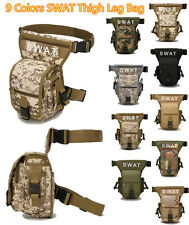 Utility Tactical SWAT Leg Bag Army Drop Thigh Pouch Outdoor Military Waist Pack