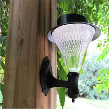 New Solar Power 16 LEDS Fence Gutter Light Outdoor Garden Yard Wall Pathway Lamp