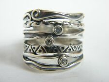 Authentic Women's Ring 925 Sterling Silver Ring Band CZ White Ring