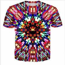 Summer Short sleeve Women/Mens Psychedelic Graphic 3D Print Casual T-Shirt R66