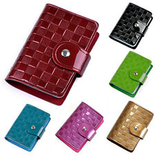 Womens Patent Leather ID Credit Card Case Holder Bag Wallet Organizor Marketable