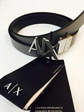 New Armani Exchange Womens   A|X REVERSIBLE HINGE BELT