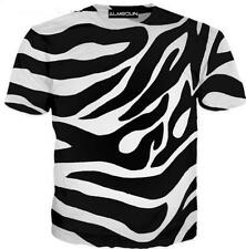 Summer Short sleeve Women/Mens Psychedelic stripes 3D Print Casual T-Shirt R78