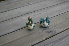 2 Dragons Hatching from an Eggs Figurines, Summit Collection, W.U. , '97