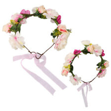 Mom Baby Flower Garlands Wreath Crown Party Bridal Boho Headband Hairband
