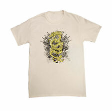 NEW Dragon with Sword Throne Men's White w/ Gold yellow T shirt Small      ACC