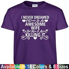 Awesome WIFE Killing It Funny Mothers Day Birthday Christmas Gift Tee T Shirt