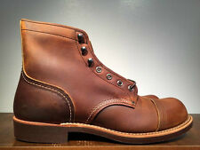 RED WING IRON RANGER BOOT COPPER ROUGH & TOUGH LEATHER 8085 MADE IN THE USA
