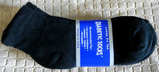 Womens Diabetic Low Cut Ankle Socks Black Size: 9-11  Pick Your Qty Lot USA Made