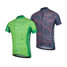 Reflective Zip Pocket Cycling Jersey Men's Short Sleeve Road Bike Cycle Shirt