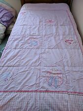 Laura Ashley Girls Single Ballet Pink Quilted Throwover Bed Throw Bedspread