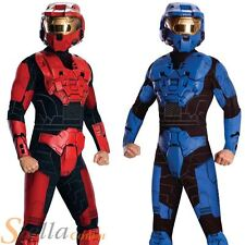 Mens Deluxe Spartan Halo Costume Video Game Fancy Dress Adult Outfit