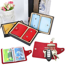 2PC Key Holder 24 Card Wallets Package Credit Card PU Leather Holder Key Case