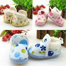 1Pair Soft Sole Warm Girls Ankle Boots Boy Winter Infant Toddler Shoes Baby