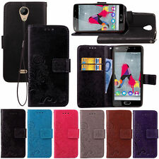 For Wiko U Feel 4G Magnetic Filp Wallet PU Leather Card Soft Case Stand Cover