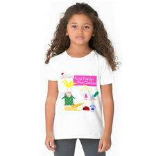 child girls ben and hollys little kingdom cotton summer t-shirt Tops Holiday Tee
