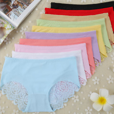 Sexy Women Tempt Lce Silk Seamless Underpants Fashion Lovely Bud Silk Briefs Hot