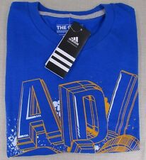 ADIDAS Youth Boy's Go To Logo Crew Neck Tee T-Shirt Blue S, M, L, XL NEW NWT