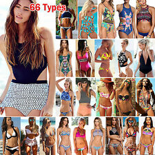 66 Types Womens Push Up Pedded Bra Swimwear Swimsuit Beach Bikini Set Monokini