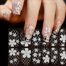 Lace Nail Art Decoration Decal Bow French Style White Nail Sticker 1 Sheet
