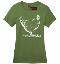 Funny Chicken Ladies Soft T Shirt Cock Rooster Sexual Holiday Gift Tee Z4