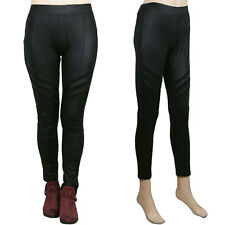 Ladies Womens Faux Leather Sexy Leggings Trousers Treggings Pencil Pants Stretch