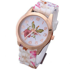 Watch Fashion Quartz New Watches Silicone Watch Floral Sports Jelly  1Pcs Women