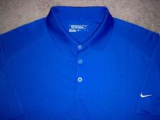Men's NWOT NIKE GOLF Dri-Fit Tour Performance Polo XL ROYAL BLUE w/White Swoosh