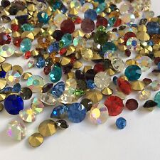 Mixed Sizes Colors Rhinestones Point back Chatons Crystal Glass Strass C1