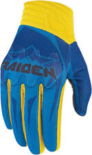 Icon Raiden Mens Turk/Blue/Yellow Textile Arakis Dual Sport Motorcycle Gloves