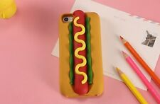 SOFT RUBBER SILICONE CASE COVER SKIN 3D Hotdog Sandwich For Apple iPhone 5 6S 7S
