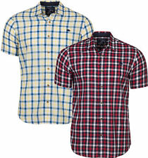 MENS RAGING BULL SHORT SLEEVE SHIRT - Linen Look Check Shirt
