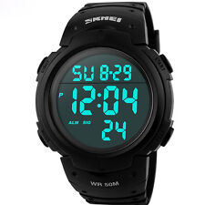 Skmei Luxury Brand Mens Sports Watches Dive 50m Digital LED Military Watch Men F