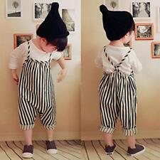 New Kids Girl Summer Stripe Rompers One Piece Backless Strap Jumpsuit Playsuit