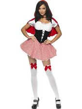 Adult Sexy Red Riding Hood Ladies Fairytale Fancy Dress Hen Party Costume Outfit