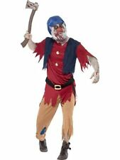 Adult Zombie Evil Dwarf Mens Halloween Horror Party Fancy Dress Costume Outfit