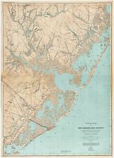 Egg Harbor New Jersey 1885 Topographical Map, NJ Atlantic Shore Map Art Prints