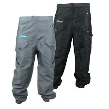 Mens Location Cargo Style Tracksuit Track Pants Cuffed Bottoms Pant Size S-XXL