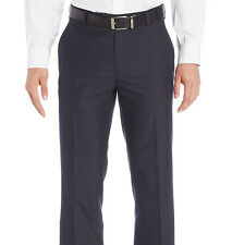 Kenneth Cole Reaction Slim Fit Gray Pinstriped Flat Front Washable Dress Pants