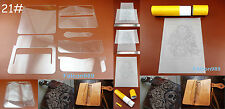 6pc Leathercraft Acrylic Perspex Long Wallet Template Stencil Tracing Paper Tool