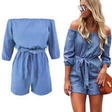 UK Womens Holiday Mini Playsuit Ladies Jumpsuit Shorts Romper Summer Beach Dress