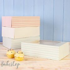 6 CUPCAKE MUFFIN DISPLAY BOX + WINDOW PARTY, WEDDING - 8 COLOURS (HOLDS 6 CAKES)