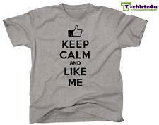 KEEP CALM LIKE ME Chive Chivery KCCO Facebook Post Spoof Funny T-Shirt NEW Grey