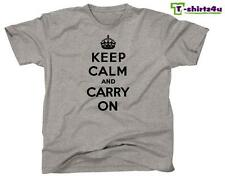 KEEP CALM CARRY ON Chive Chivery KCCO British Meme War Poster T-Shirt NEW Grey